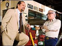 Jack Nicholson (l) with Martin Scorsese