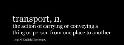 Dictionary definition of the word 'transport'