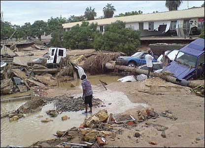 Damage after Cyclone Favio hit land in Vilanculos, Mozambique [Pic: Francois Goemans for the European Commission Humanitarian Aid Dept (ECHO)]