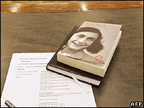Diary of Anne Frank on judge's desk
