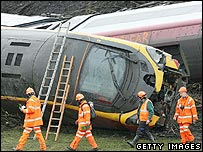 The train crash in Cumbria