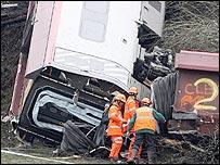 The Cumbria crash scene