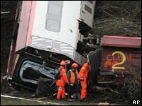 The Cumbria crash scene