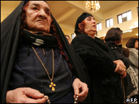 Iraqi Christians praying