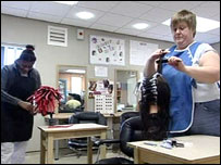 Hairdressing at New Hall