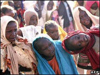 Darfuri children at a camp for displaced people in Nyala, Sudan