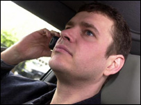 Driver with mobile phone