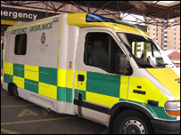 Ambulance at A&E