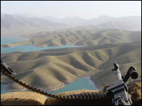 View from an outpost protecting the Kajaki dam