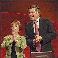 Hazel Blears and Gordon Brown