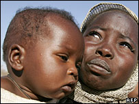 Refugees from the conflict in Darfur