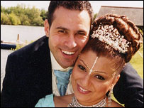 Fadi Nasri and Nisha Patel-Nasri on their wedding day