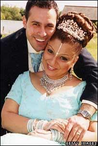 Fadi Nasri and Nisha Patel-Nasri on their wedding day