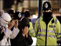 Protest against Prophet Mohammed cartoon in London