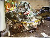 Scene of crash on M3