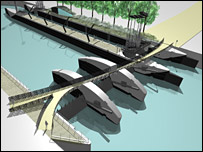 Artists impression of new lock