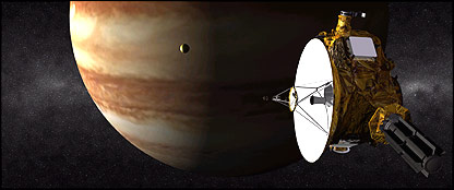 Artist's impression of New Horizons probe at Jupiter  Image: Nasa