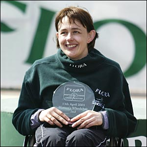 Tanni Grey-Thompson at the London Marathon in 2003