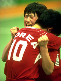 South Korea celebrate handball gold in 1988