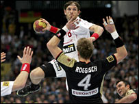 Action from the Germany's defeat of Poland in the recent world championship