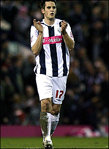 Darren Carter celebrates scoring for West Brom against Middlesbrough