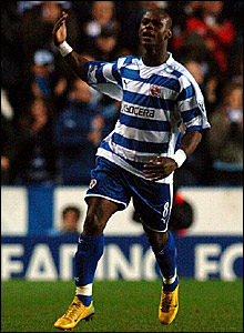 Leroy Lita celebrates scoring Reading's second