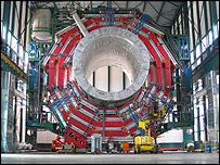 YB0 segment of CMS positioned over its shaft   Image: CMS