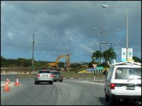 A road in Barbados
