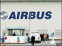 Airbus factory in Saint-Nazaire, France