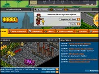 Screen grab of Habbo Hotel