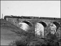 Grayrigg derailment in 1947 (Cumbria Railway Association Collection)