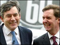 Gordon Brown and Alan Milburn