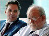 Alan Milburn and Charles Clarke at the launch of their new website