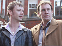 John Simm (left) and Philip Glenister in Life on Mars