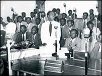 Kwame Nkrumah making a speech
