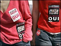 French Oui campaigners