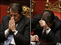 Romano Prodi in the Italian senate