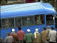 Bus carrying the accused policeman