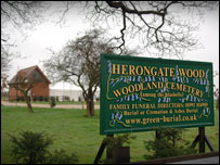 Sign for Herongate wood