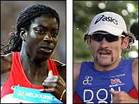 Christine Ohuruogu and Tim Don