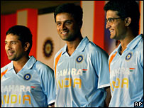 Sachin Tendulkar, Rahul Dravid and Sourav Ganguly