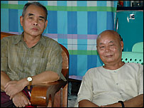 KNU Secretary General Pado Mahn Shar (l) and KNLA chief Mutu Sae Po (r)