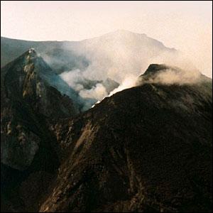 Stromboli's smoking crater