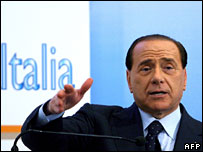 Opposition leader Silvio Berlusconi