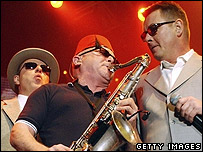 "(l to r) Suggs, Lee 'Kix"" Thompson and Chas Smash of Madness"
