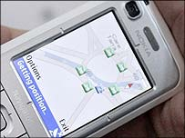 Mobile phone with a GPS tracker