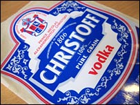 Christoff Vodka label