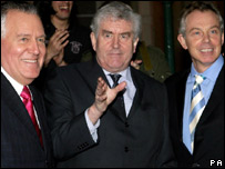 Peter Hain, Rhodri Morgan and Tony Blair