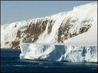 Glaciar del polo sur