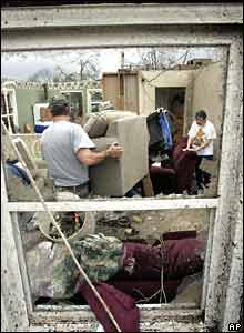 Two people in damaged home, Enterprise, AL